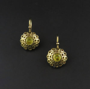 Gold Yellow Sapphire Drop Earrings