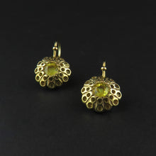 Load image into Gallery viewer, Gold Yellow Sapphire Drop Earrings