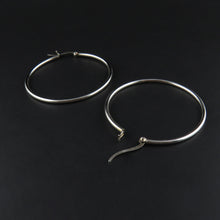 Load image into Gallery viewer, Silver Hoop Earrings