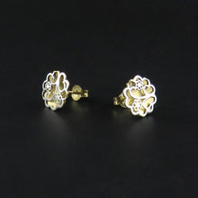 Load image into Gallery viewer, Two Toned Flower Earrings