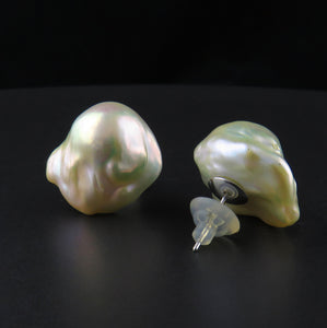 Baroque Pearl Stud Earrings