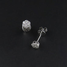 Load image into Gallery viewer, Diamond Cluster Earrings