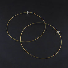 Load image into Gallery viewer, Yellow Gold Fine Hoops