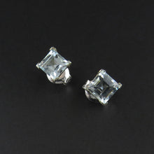 Load image into Gallery viewer, Aquamarine Stud Earrings