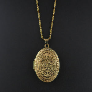 Gold Patterned Locket