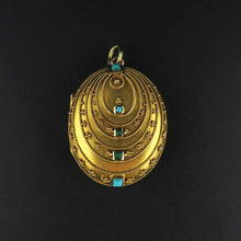 Load image into Gallery viewer, Oval Turquoise Vintage Locket