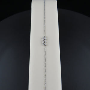 White Gold Diamond Aquarius Bracelet