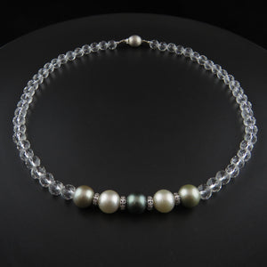 Tahitian Pearl and Crystal Necklace