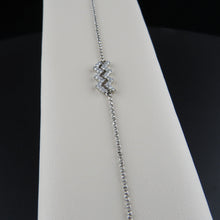 Load image into Gallery viewer, White Gold Diamond Aquarius Bracelet