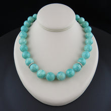 Load image into Gallery viewer, Diamond and Amazonite Beaded Necklace