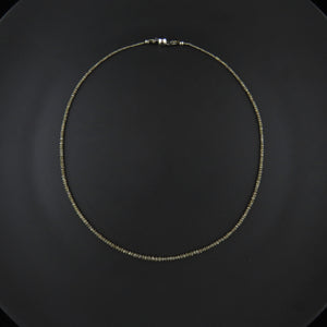 Grey Diamond Faceted Bead Necklace