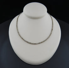 Load image into Gallery viewer, Grey Diamond Faceted Bead Necklace