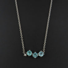 Load image into Gallery viewer, Paraiba Tourmaline and Diamond Necklace