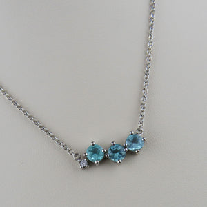 Paraiba Tourmaline and Diamond Necklace