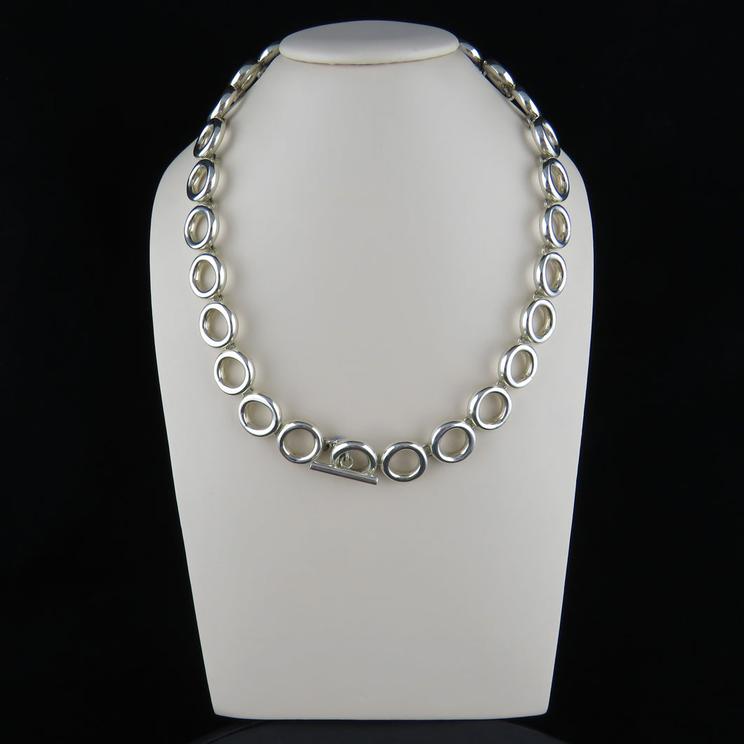 Multi Circle Necklace with T-Bar