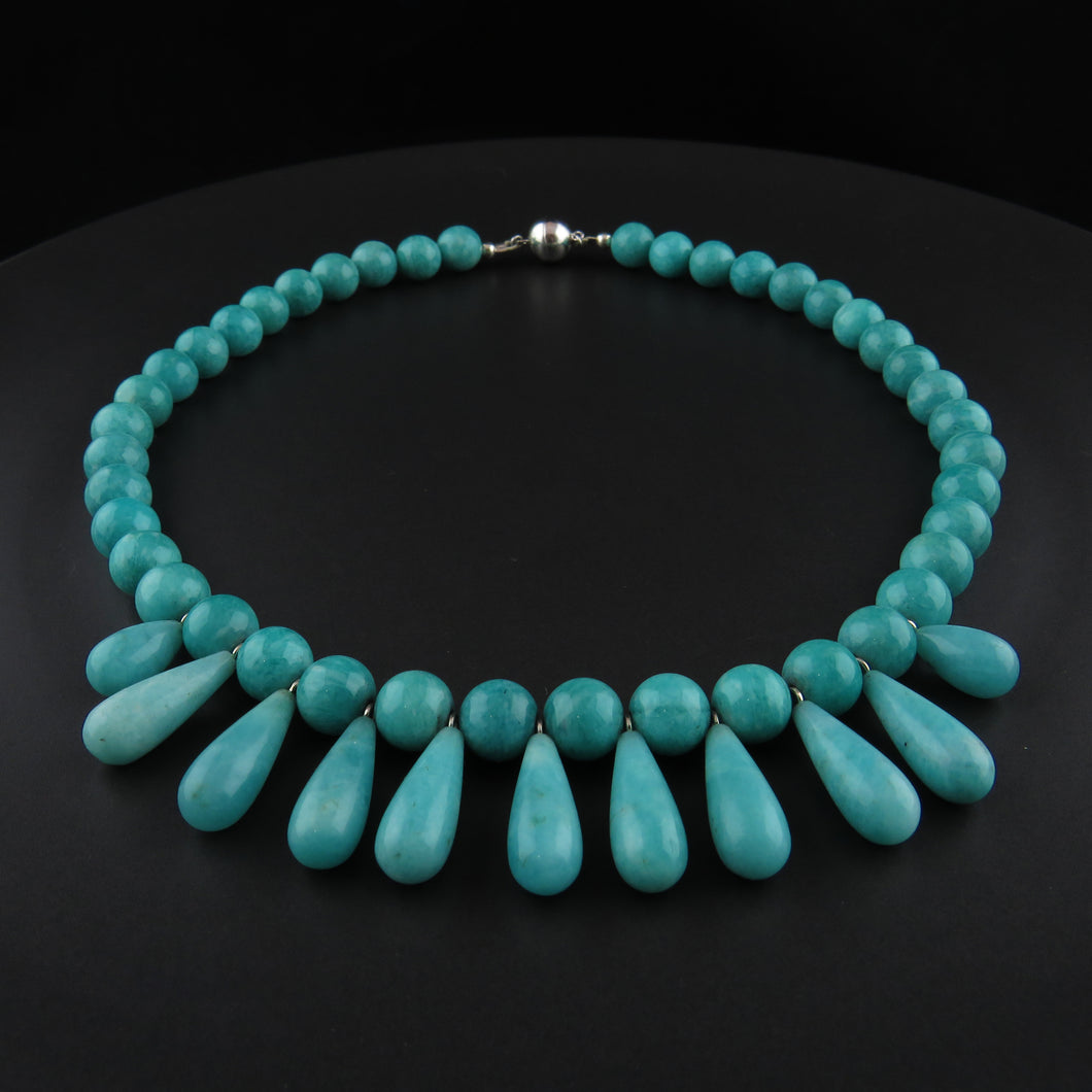 Amazonite Bead Drop Necklace