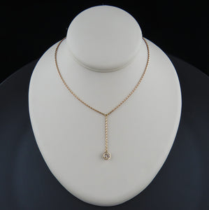 Cognac Diamond Drop Necklace