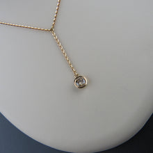 Load image into Gallery viewer, Cognac Diamond Drop Necklace