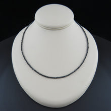 Load image into Gallery viewer, Faceted Black Diamond Necklace