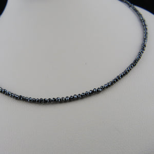 Faceted Black Diamond Necklace