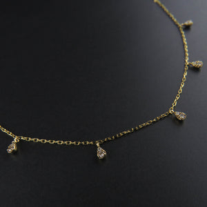 Droplet Diamond Necklace