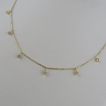 Load image into Gallery viewer, Droplet Diamond Necklace