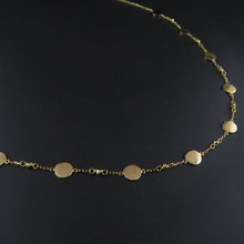 Load image into Gallery viewer, Gold Disk Necklace