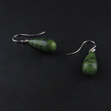 Load image into Gallery viewer, Green Agate Drop Earrings