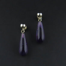 Load image into Gallery viewer, Amethyst Drop Stud Earrings