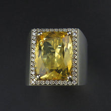 Load image into Gallery viewer, Citrine and Diamond Dress Ring