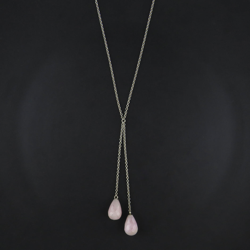 Kunzite Multi Drop Necklace