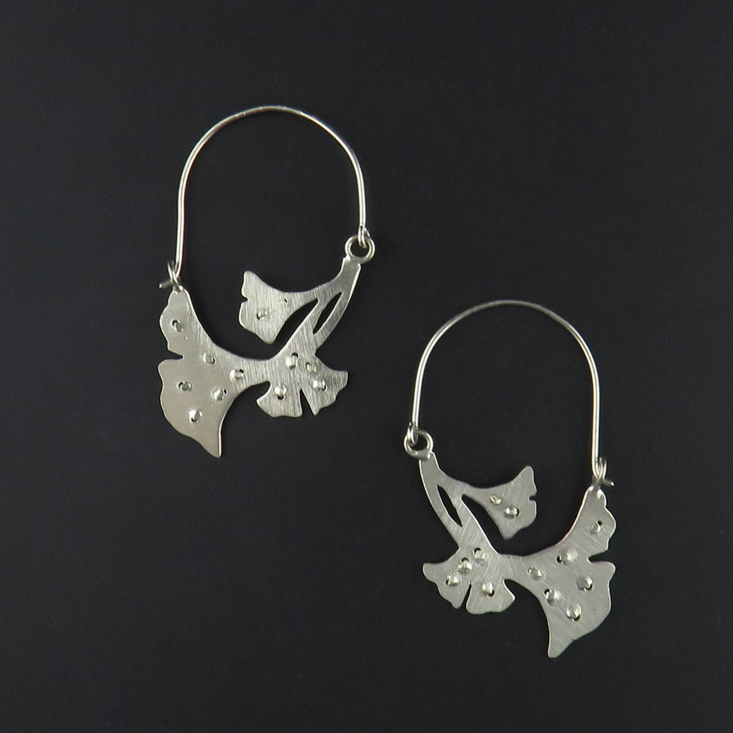 Floral Textured Earrings
