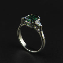 Load image into Gallery viewer, Tourmaline and Diamond Ring