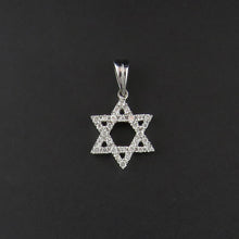 Load image into Gallery viewer, Diamond Star of David Pendant