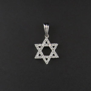 Diamond Star of David Pendant