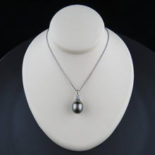 Load image into Gallery viewer, Tahitian Pearl and Diamond Pendant