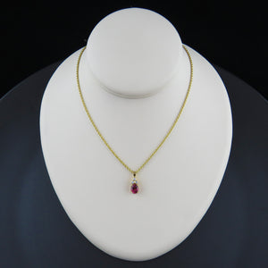 Diamond and Pink Tourmaline Pendant
