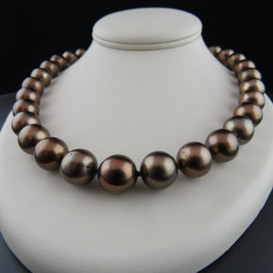 Chocolate Cultured Pearl Strand
