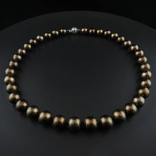 Load image into Gallery viewer, Chocolate Cultured Pearl Strand