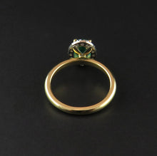 Load image into Gallery viewer, Emerald and Diamond Ring
