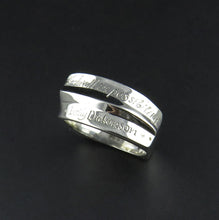 Load image into Gallery viewer, Silver Scripted Ring
