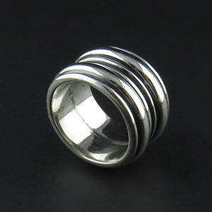 Wide Layered Spinning Ring