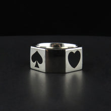 Load image into Gallery viewer, Silver 'Poker' Ring