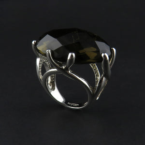 Large Silver Dress Ring