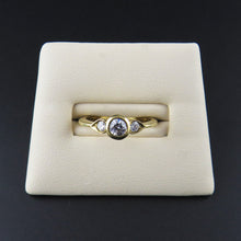 Load image into Gallery viewer, Three Stone Yellow Gold Ring