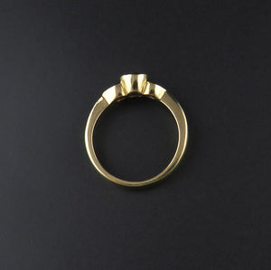 Three Stone Yellow Gold Ring