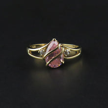 Load image into Gallery viewer, Pink and White Cubic Zirconia Dress Ring