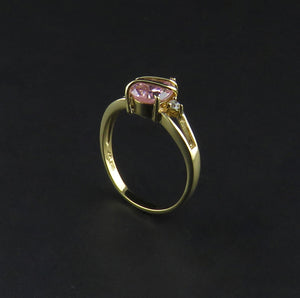 Pink and White Cubic Zirconia Dress Ring