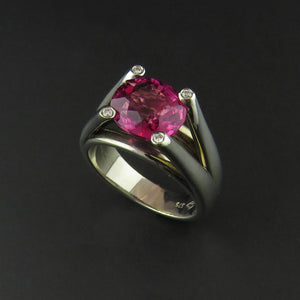 Pink Tourmaline and Diamond Dress Ring