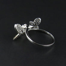 Load image into Gallery viewer, Cubic Zirconia Butterfly Ring